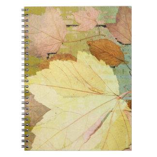 Leaf Harmony Orange Yellow Green Notebook