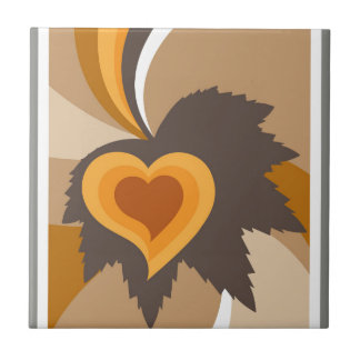 Leaf heart abstract tile