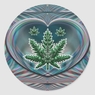 Leaf Heart Sticker