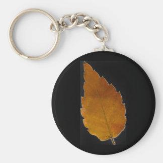 leaf III Basic Round Button Keychain