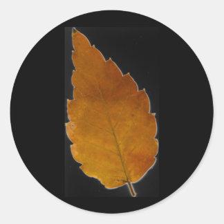leaf III Classic Round Sticker