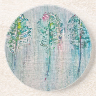 Leaf Impressions in Acrylic Coaster