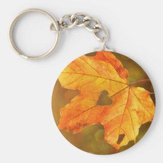 Leaf in Heart Keychain