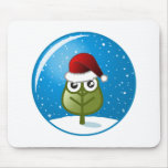 Leaf In Snow Globe Mouse Pad