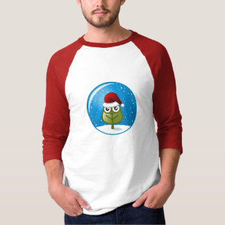 Leaf In Snow Globe T-Shirt