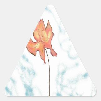 leaf in the wind triangle sticker