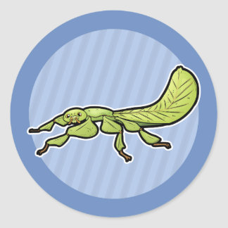 Leaf Insect Classic Round Sticker