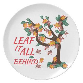 Leaf It All Behind Dinner Plate