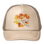 leaf it to fall trucker hat