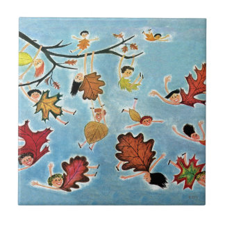 Leaf Kids Ceramic Tile