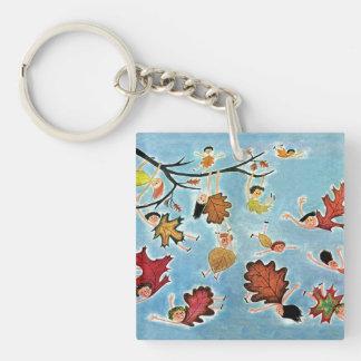 Leaf Kids Keychain