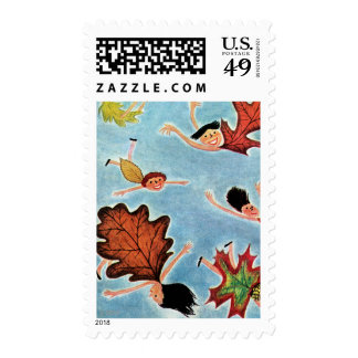 Leaf Kids Postage Stamp