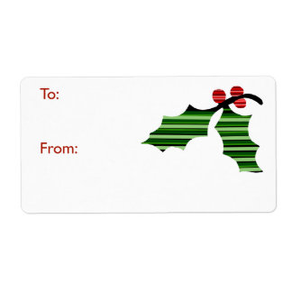 Leaf Lines Gift Tag Shipping Label