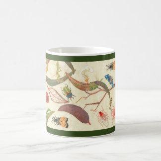 """Leaf litter and bugs"" Embroidery Coffee Mug"