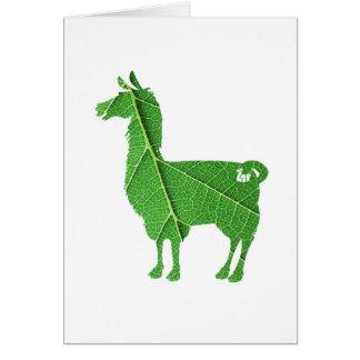 Leaf Llama Greeting Card