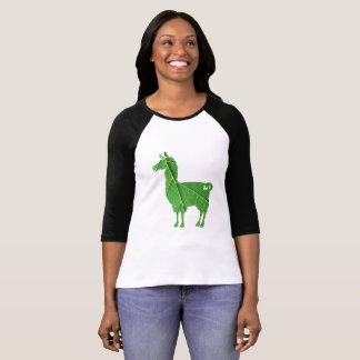 Leaf Llama Ladies 3/4 T-Shirt