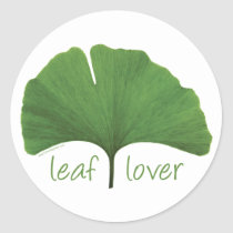 Leaf Lover Tree Hugger Classic Round Sticker