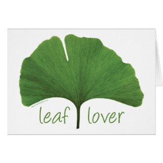 Leaf Lover Tree Hugger Greeting Card