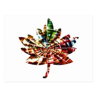 Leaf - Maple Leaf - Sparkling Red Design Postcard