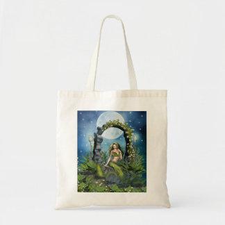 Leaf Mermaid Budget Tote Bag