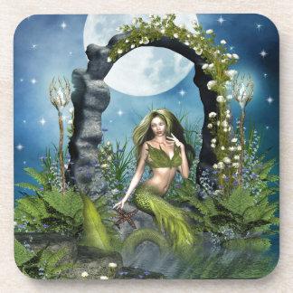 Leaf Mermaid Drink Coaster