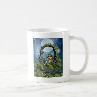 Leaf Mermaid Classic White Coffee Mug
