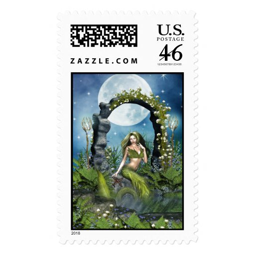 Leaf Mermaid Stamp