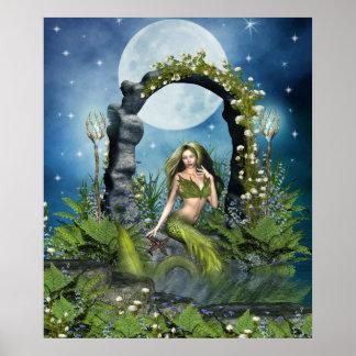 Leaf Mermaid Poster
