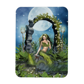 Leaf Mermaid Rectangular Photo Magnet