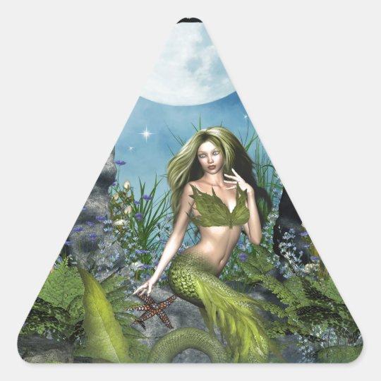 Leaf Mermaid Triangle Sticker