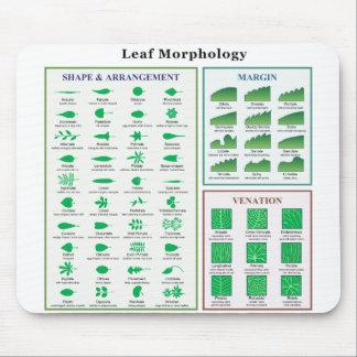 Leaf Morphology Chart Mouse Pad