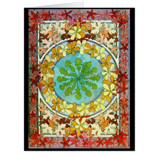 Leaf Motif 1901 Card