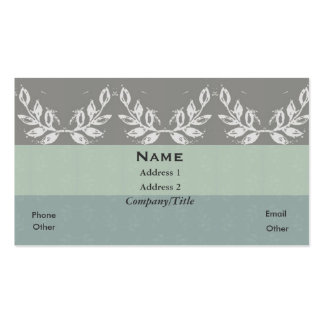 Leaf Motif Soft Shades Custom Personalized Double-Sided Standard Business Cards (Pack Of 100)