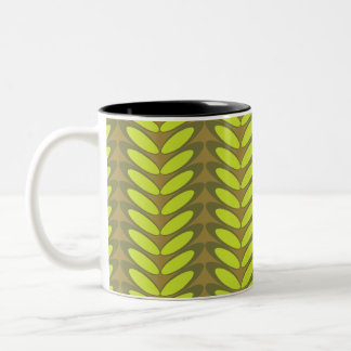 Leaf  N Wave (green) Two-Tone Coffee Mug