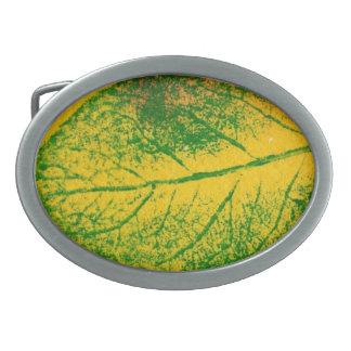 Leaf Nature Print Belt Buckle