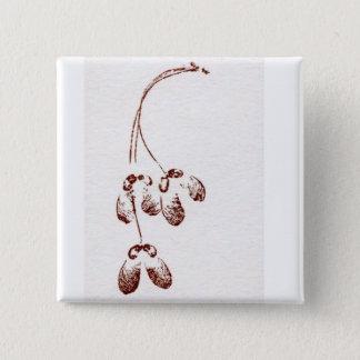 Leaf Nature Prints Button