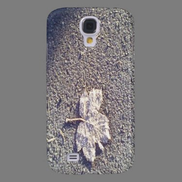 Leaf on the road galaxy s4 cases