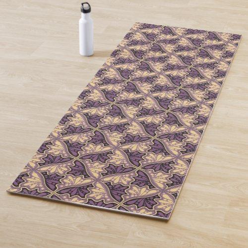 Leaf or Hummingbird Tessellations - purple yellow Yoga Mat