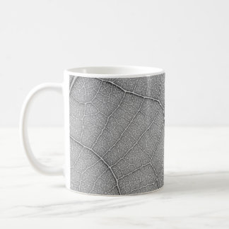 Leaf Pattern Black adn White Coffee Mug