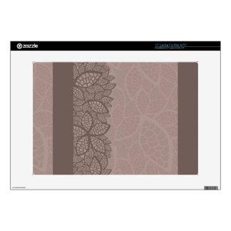 Leaf pattern border and background laptop skins