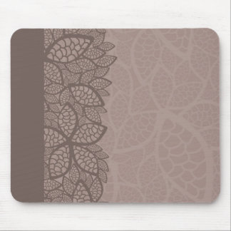 Leaf pattern border and background mouse pad