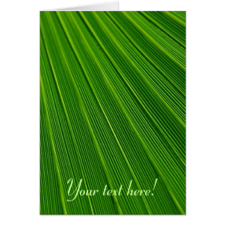 Leaf Pattern Card