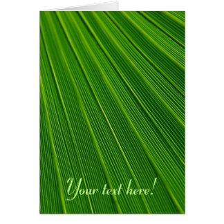 Leaf Pattern Card