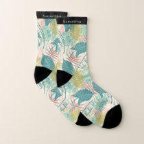 Leaf Pattern custom name socks