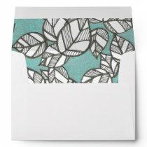 Leaf Pattern Envelope
