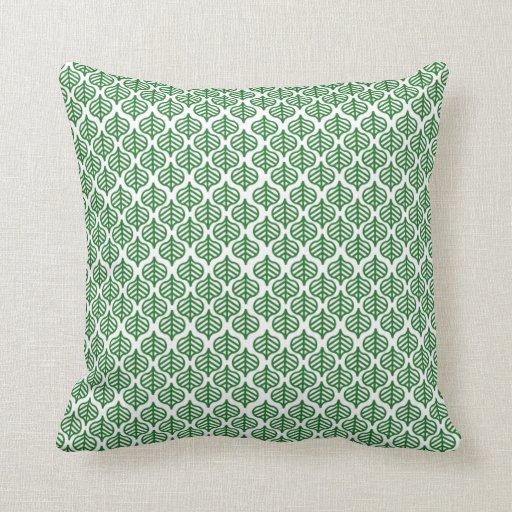Leaf Pattern Green Diagonal Geometric Throw Pillow Zazzle