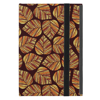 Leaf pattern iPad mini case