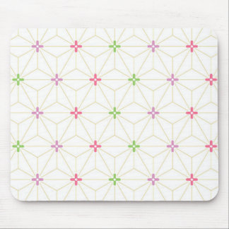Leaf pattern Japan of the Japanese traditional pat Mouse Pad