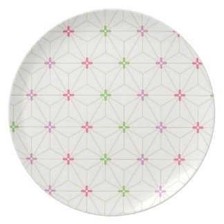 Leaf pattern Japan of the Japanese traditional pat Dinner Plates