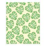 Leaf Pattern, Monstera Leaves on Cream Color. Flyer